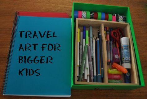 Travel art kit for bigger kids.
