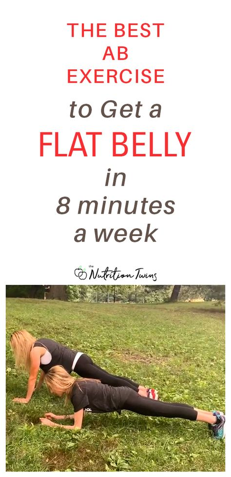 The Best Ab Exercise to Get a Flat Belly Fast. In just 8 minutes a week, you can get a flat stomach. This is one of the best ab workouts for women. For MORE RECIPES, fitness  nutrition tips please SIGN UP for our FREE NEWSLETTER www.NutritionTwins.com