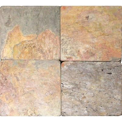 MSI Stone ULC - Multi Color 6 in. x 6 in. Tumbled Slate Floor & Wall Tile (1 Sq. Ft./Case) - THDW3-T-CAN6X6T - Home Depot Canada