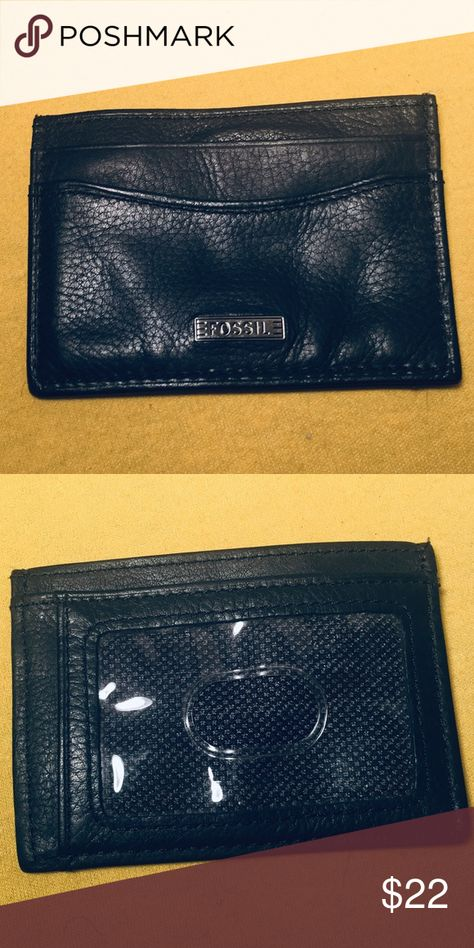 Fossil ID Credit Card Holder 2 3/4