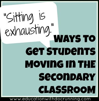 Keep students brains and bodies moving with these strategies to get students up and going because sitting is exhausting!