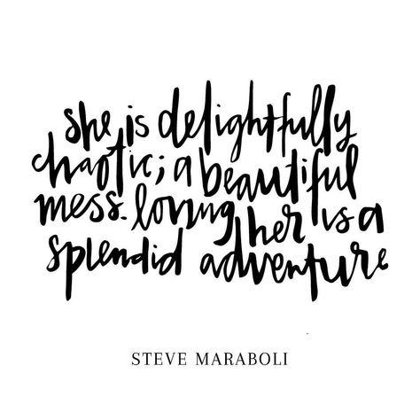 Be delightfully chaotic today 🏼️ #stevemaraboli #lettering
