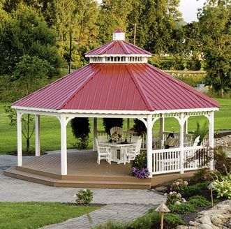 Superb Metal Roof Commercial Gazebo: Our Two Tiered Metal Roof Gazebo Offers A  Fresh And Fun Approach For Outdoor Events. The Clean Lines And Simplified Du2026