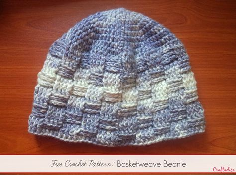Free Crochet Pattern: Basketweave Beanie