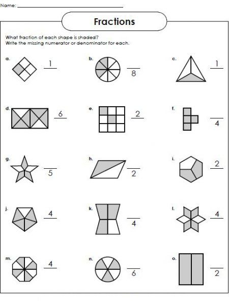 Basic Fraction Worksheets Worksheet School Fractions Worksheets Super Teacher Worksheets Simple Fractions