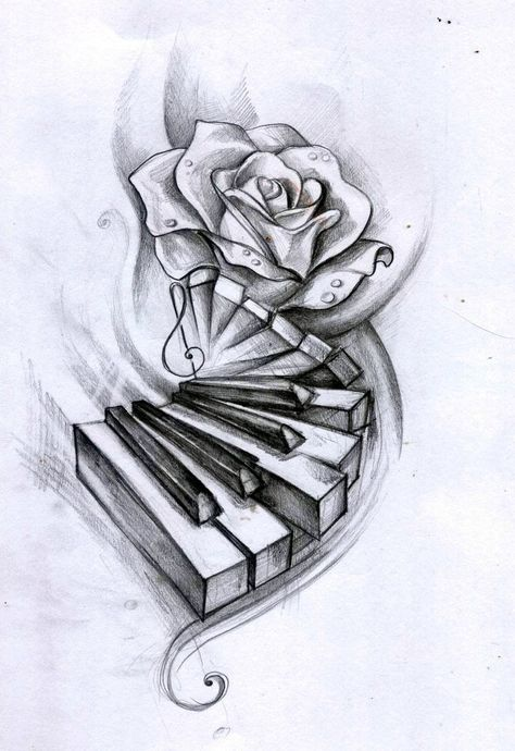 Watercolor pencils on paper tattoo design for a friend - new ideas - ta . - Watercolor pencils on paper tattoo design for a friend – new ideas – tattoo - Music Drawings, Pencil Art Drawings, Art Drawings Sketches, Cute Drawings, Tattoo Drawings, Tattoo Sketches, Music Tattoo Designs, Music Tattoos, Body Art Tattoos