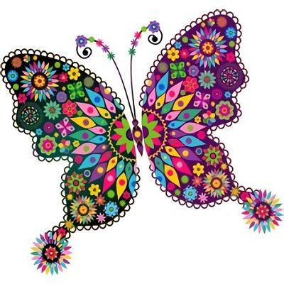 Las 50 Mandalas Coloreadas Mas Bonitas 2019 Mariposas Para Colorear Mandala Mariposa Arte De Mariposa