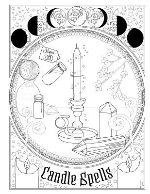 Book Of Spells Coloring Book Of Shadows Witch Coloring Pages Book Of Shadows Coloring Books