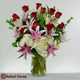 Colors Of Love V337 Spring Flower Arrangements Valentine Flower Arrangements Flower Arrangements
