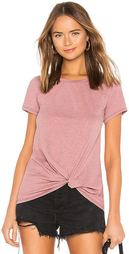 af545063584b2 Vintage Jersey Knotted Tee  poly cotton Front