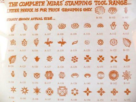 Strumento Professionale # 149 Kelly MIDAS 1980 IN PELLE STAMP Craft Strumento
