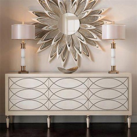 John Richard Modern Classic Frosted White Marble Column Buffet Lamp