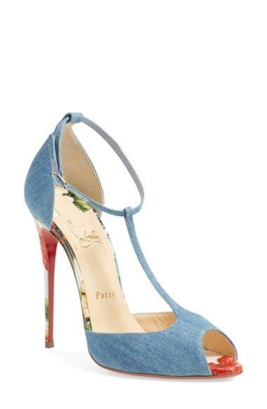 4228a9d5966 Christian Louboutin 'Senora' T-Strap Sandal available at #Nordstrom ...