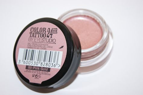 Maybelline Color Tattoo 24hr Eyeshadow In Pink Gold Review With Images Maybelline Color Tattoo Eyeshadow Color Tattoo