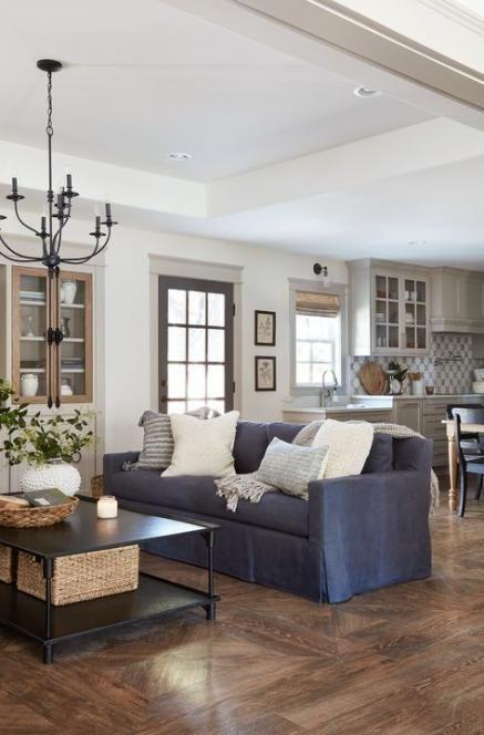 Farmhouse Livingroom Blue Couch 27 Trendy Ideas Fixer Upper Living Room Blue Couch Living Room Couches Living Room