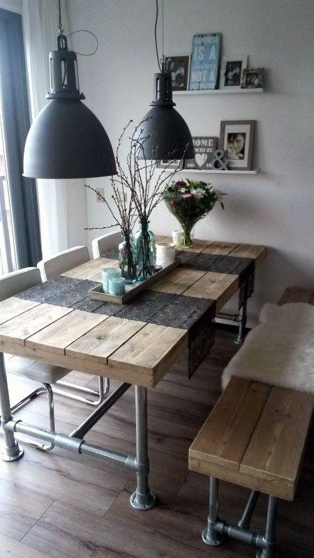 Industrial Look u2013 26+ stylische Möbel aus Rohrverbindern Küche - küche aus paletten