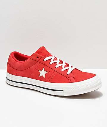 charla sexo Pera  Converse One Star Cherry Red & Vintage White Leather Skate Shoes | Shoes,  Skate shoes, Women skates
