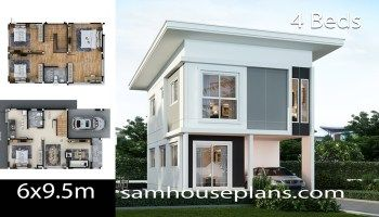 House Design Idea 7x10 5 With 4 Bedrooms Samhouseplans In 2020 Architectural House Plans New House Plans Family House Plans