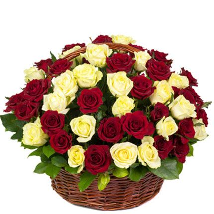 Elegant Roses Basket Red And White Roses Red And Yellow Roses Rose Basket