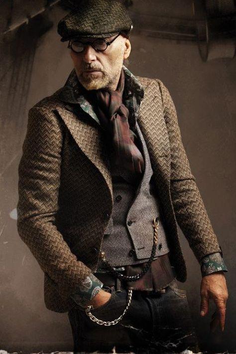 How to Wear a Dark Brown Herringbone Blazer For Men looks & outfits)