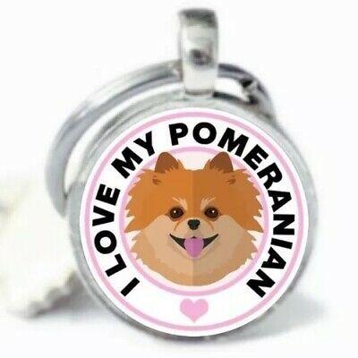 I LOVE MY DOG KEY CHAIN POMERANIAN