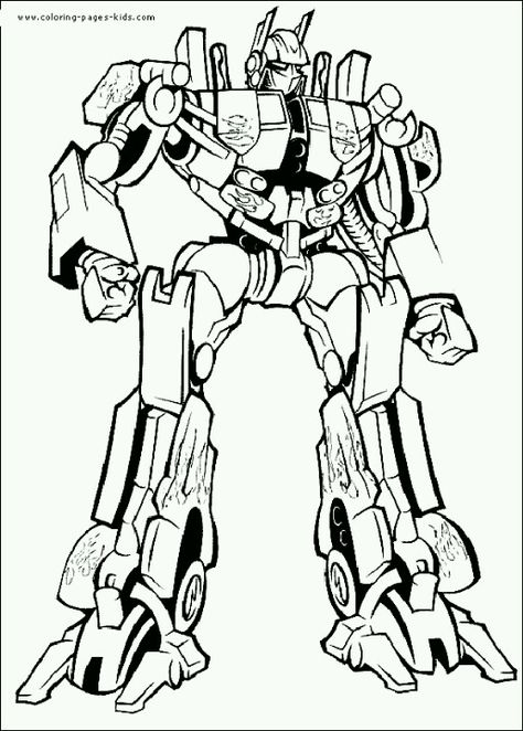Optimus Prime Coloring Page Colouring Transformers Para Colorear
