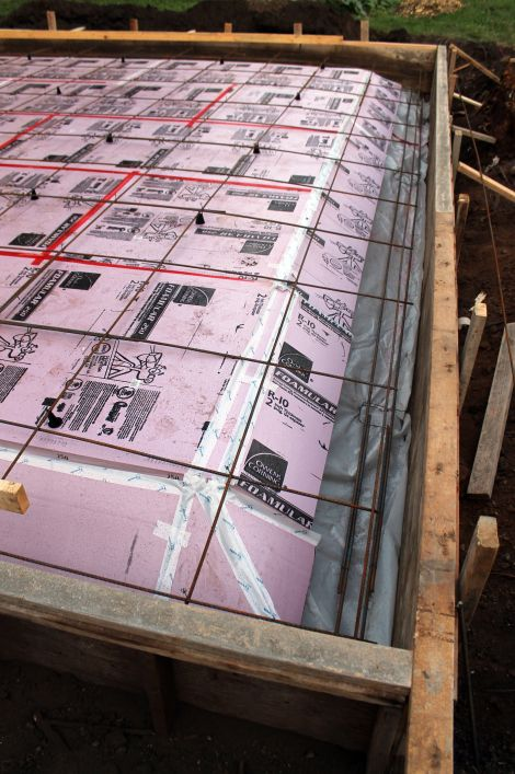 Sub Slab Rigid Insulation With 3 8 Rebar 24 O C Concrete Slab Foundation Pouring Concrete Slab House Foundation
