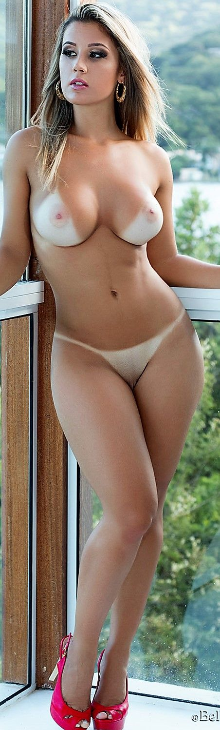 Tan Girl Lines Nude Hot Naked