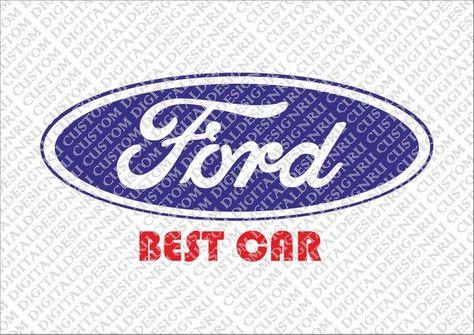 Ford Classic Vector Logo Car Emblem Svg Cut File Print
