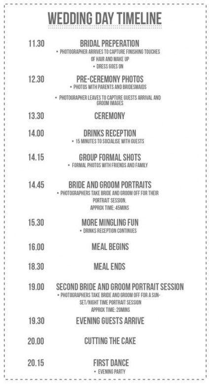Wedding Day Timeline 1pm 27 Ideas Wedding Day Timeline Wedding Day Schedule Wedding Timeline