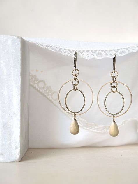juwelen/jewelry - MAAK HET ZELF/MAKE IT YOURSELF ! : project : oorbellen met ringen - earrings with rings