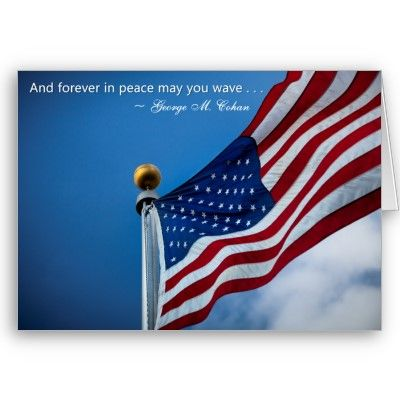 Independence Day Patriotic Veterans American Flag Card Zazzle
