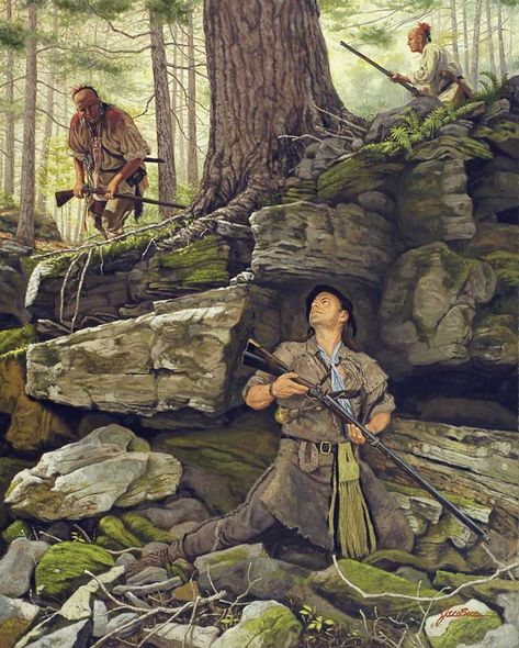 A Matching of Instincts by Dann Jacobus :: Historical & Wildlife Art American Indian Art, Native American Art, American History, Westerns, Mountain Man, Woodland Indians, Native American Paintings, West Art, American Frontier