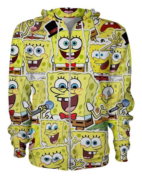 SpongeBob SquarePants Zip Hoodie - L / Yellow