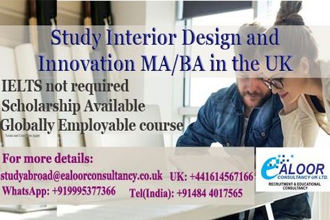 Study Master In Interior Design And Innovation With Guaranteed