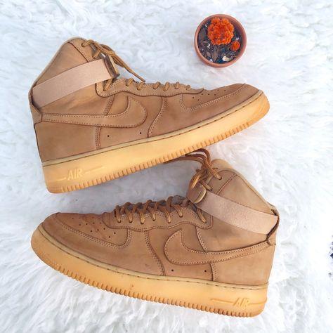 Nike Shoes | Air Force 1 High Wheats | Color: CreamTan