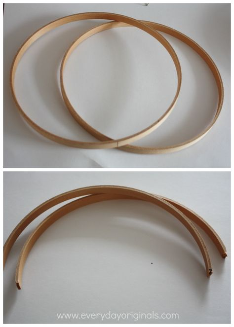 Wall Sconce Diy Shade Wooden Quilting Hoops