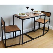 Breakfast Table 2 Chairs Dining Space Saver Bar Small Compact Set Solid Sturdy Ebay Compact Dining Table Space Saving Kitchen Table Space Saver Kitchen Table