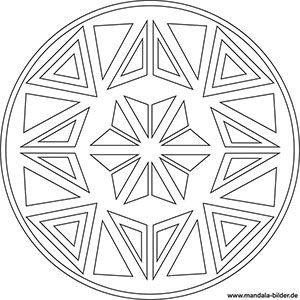 Mandala Malvorlage Mit Dreiecken Mandala Malvorlagen Dreieck Mandala Bilder