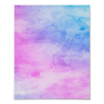 Abstract Watercolor Painting Pink Purple Modern Poster Zazzle