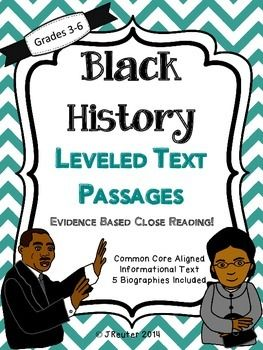 Don't miss this special price!  In this Common Core aligned black history unit you will find 5 biographies of African Americans heroes who made history in the United States. This close reading activity includes right there questions and highlighting activity followed by a second read with a higher level short-constructed response.