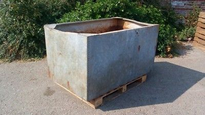 Large Galvanised Water Tank Trough Planter Garden Feature Vintage