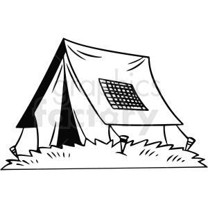Black And White Cartoon Tent Vector Clipart Black And White Cartoon Clip Art Vector Clipart