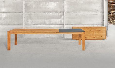 Tavolo allungabile rettangolare in legno massello VARIUS By ...