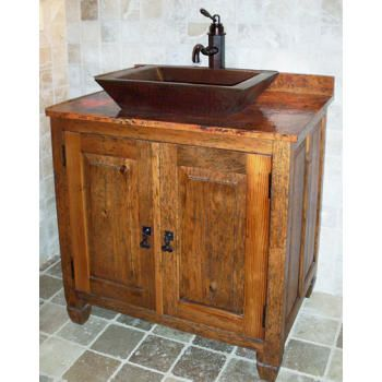 Sierra Copper Sc Vbl 30 Burlington 29 Vanity Rustic Bathroom