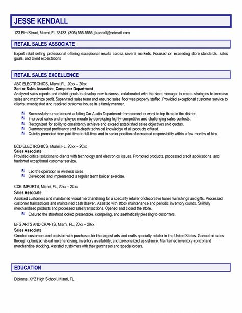 Thesis statement for marketing plan Sample Of Thesis Statement - sales associate retail sample resume