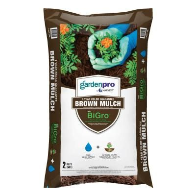 Vigoro 2 Cu Ft Bagged Brown Mulch 52050196 The Home Depot Brown Mulch Mulch Brown Color