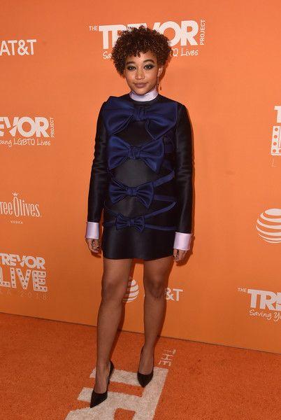 Amandla Stenberg attends The Trevor Project's TrevorLIVE Gala at The Beverly Hilton Hotel.