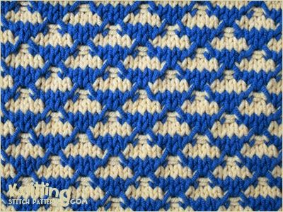 Quilted Check | The two color stitch pattern is created easily with ...