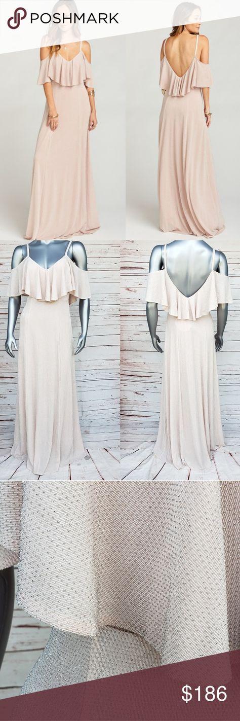 580e8fc1b5e Show me your mumu renee ruffle maxi dress nwt Dancing queen shine blush  size med Bust